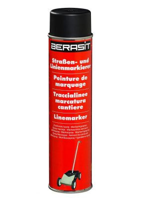 6 x 600 ml Berasit Linienspray schwarz Straßen- Linienmarkierer Markierfarbe